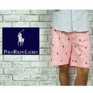 Polo Ralph Lauren Pink Tyler Logo Shorts